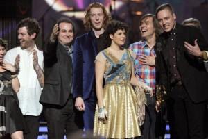 Arcade Fire at 2011 Grammy Awards