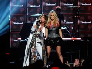 Steven Tyler and Carrie Underwood