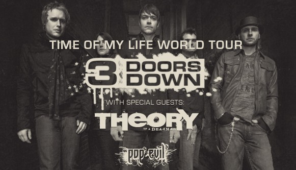 3 Doors Down Time Of My Life World Tour