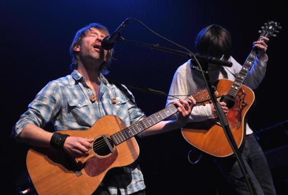 Thom Yorke and Jonny Greenwood of Radiohead