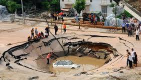 Giant Pothole