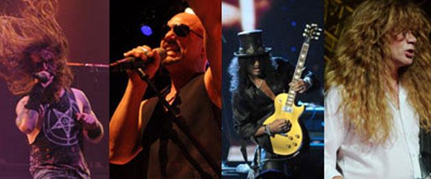 Rob Zombie, Queensryche, Slash, Megadeth