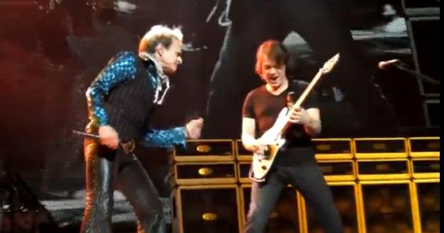 David Lee Roth and Eddie Van Halen of Van Halen