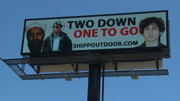 Shreveport Billboard Displays Pictures of Osama bin Laden, Boston Bombing Suspects With the Phrase 'Two Down, One to Go' | News Radio 710 KEEL