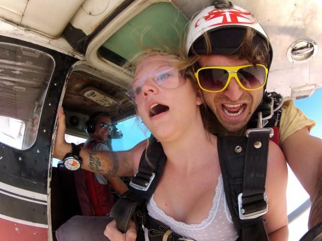 skydiving girl