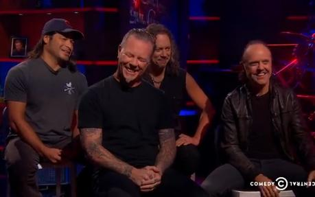 Metallica Colbert Interview
